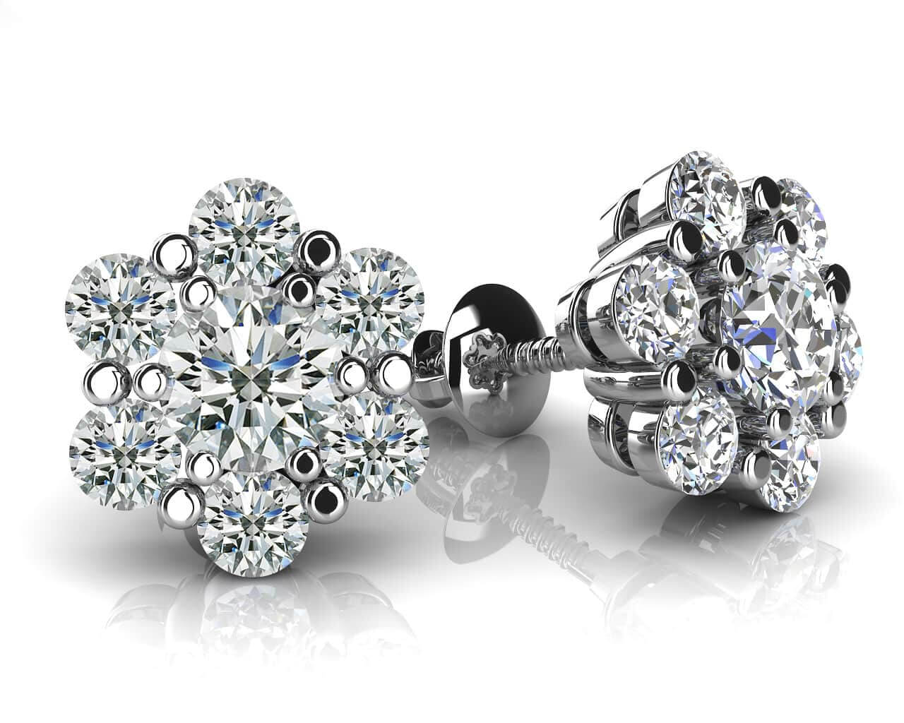 diamond exclusively drop floral aliona a by with flower set pear jeandousset on shaped best for are stud diamonds earrings pinterest shape jean images motif