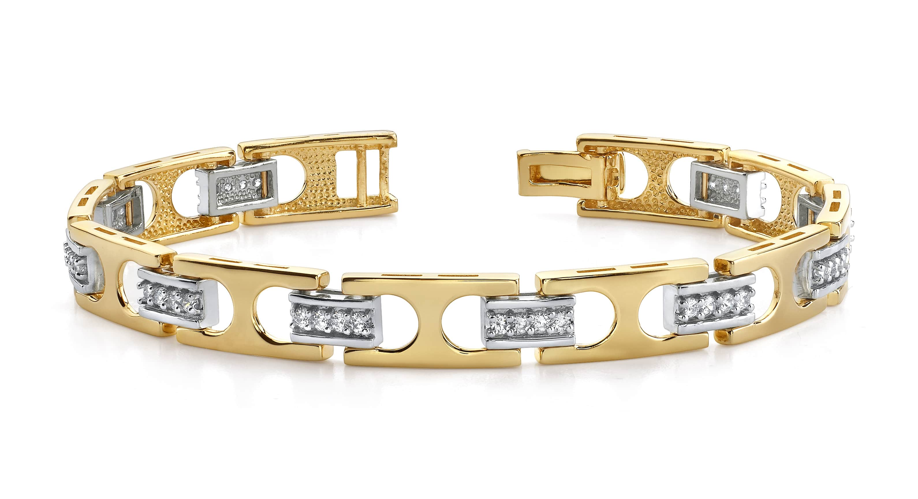 bar diamond yellow metallic lyst bangles gold jewelry gallery chicco bracelet in zoe