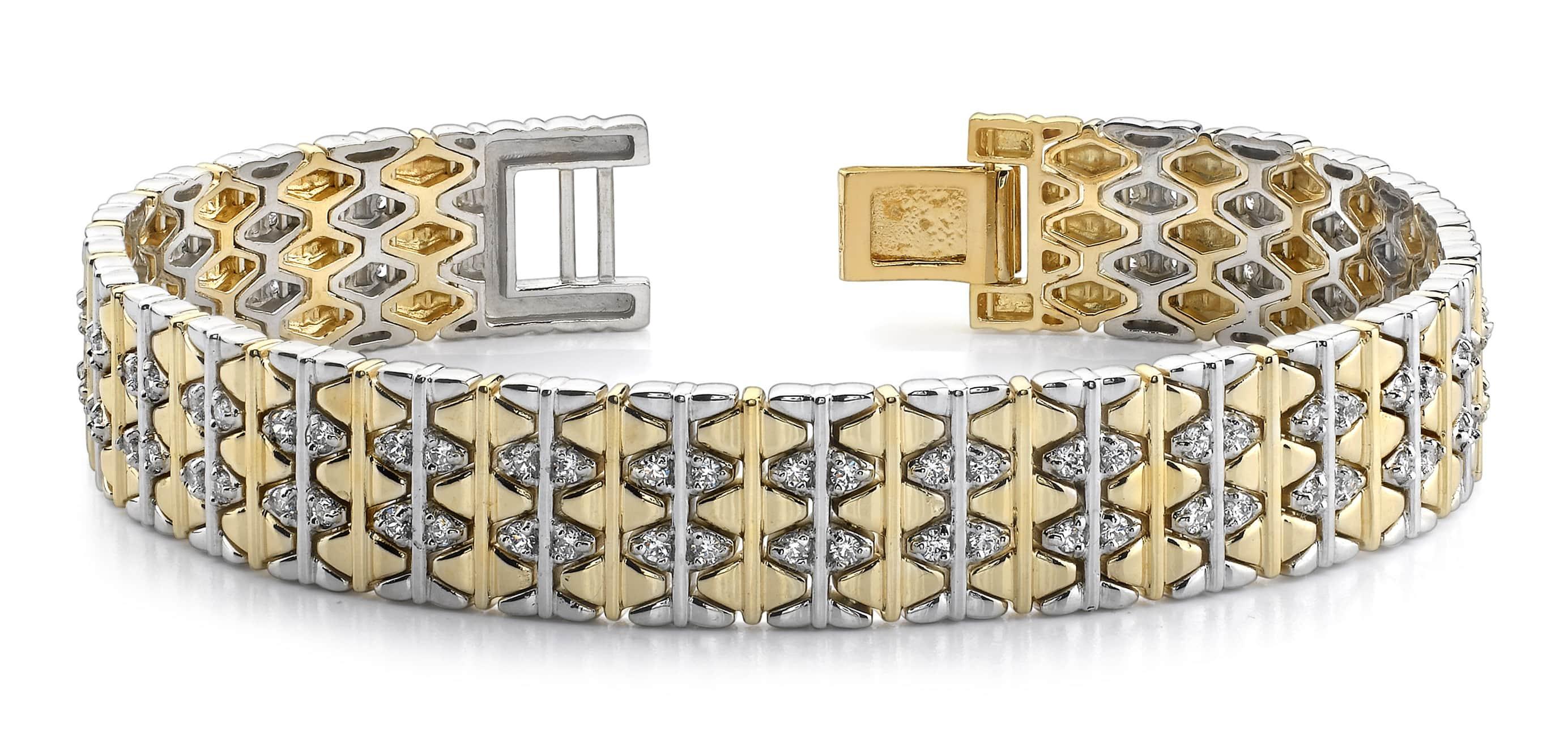Elliptical Mens Diamond Bracelet