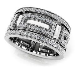 Glamorous Millgrain Eternity Ring