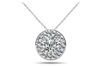 Surrounded With Love Diamond Pendant