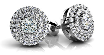 Surrounded By Diamonds Designer Stud Earrings