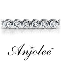 Classic Round Bezel Set Diamond Tennis Bracelet