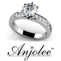 Diamond Band Center Focus Engagement Ring