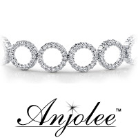 Dripping with Diamonds Circle Link Bracelet