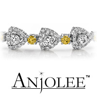 Triangular Diamond Link Color Stone Bracelet