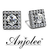 Diamond Centered Square Studs