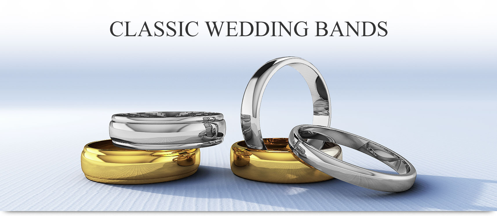Classic Gold and Platinum Wedding Bands