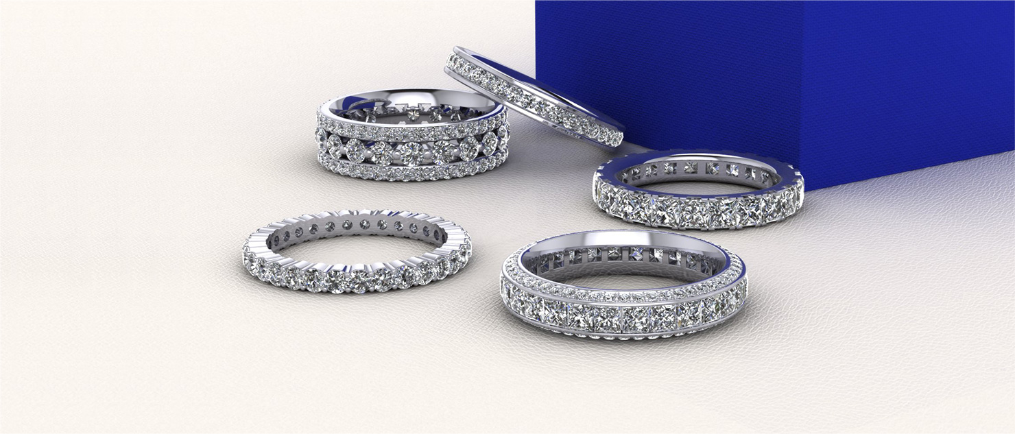 Diamond Engagement Anniversary Rings Bridal Wedding Sets