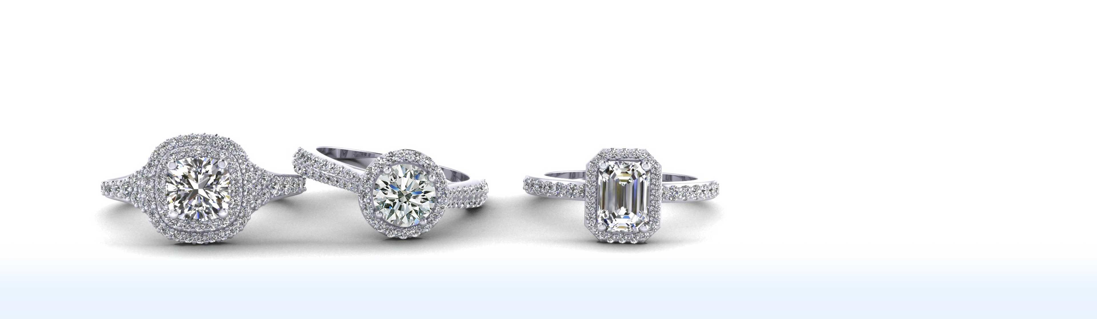 Diamond Engagement & Anniversary Rings Bridal Wedding Sets